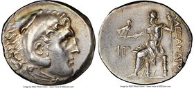 PAMPHYLIA. Perga. Ca. 221-189 BC. AR tetradrachm (32mm, 16.78 gm, 12h). NGC Choice XF 4/5 - 4/5, die shift. In the name and type of Alexander III the ...