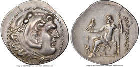 PAMPHYLIA. Perga. Ca. 221-188 BC. AR tetradrachm (34mm, 16.61 gm, 12h). NGC Choice XF 4/5 - 4/5. Late posthumous issue in the name and types of Alexan...