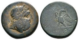PONTOS. Amisos. Ae (Late 2nd/Early 1st centuries BC). Time of Mithradates VI Eupator. Obv: Laureate head of Zeus right. Rev: ΑΜΙΣΟΥ. Eagle standing le...