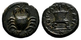 CILICIA, Mopsos. Autonomous Issue. Time of Marcus Aurelius, circa 161-180 AD. Æ . Dated civic year 230 (162/3 AD). Crab with star (Zodiac sign of Canc...