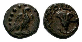 CILICIA, Soloi AE, 2nd and 1st Century BC. Eagle and Rose,