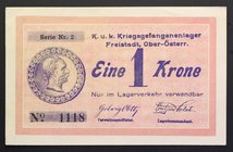 Austria Freistadt 1 Krone 1918