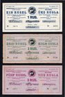Estonia Port Kunda 1-3-5-10-25 Roubles 1941 Rare