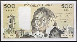 France 500 Francs 1991