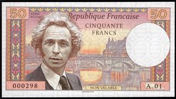 France 50 Francs 2018 Specimen
