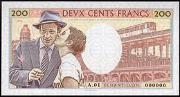 France 200 Francs 2018 Specimen