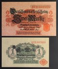 Germany 1 & 2 Mark 1914