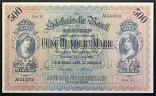 Germany Dresden 500 Mark 1922 RARE!
