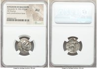 MACEDONIAN KINGDOM. Alexander III the Great (336-323 BC). AR drachm (18mm, 1h). NGC AU. Posthumous issue of 'Colophon', ca. 319-310 BC. Head of Heracl...