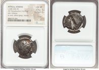 ATTICA. Athens. Ca. 440-404 BC. AR tetradrachm (24mm, 16.83 gm, 4h). NGC Choice VF 5/5 - 2/5, scuffs. Mid-mass coinage issue. Head of Athena right, we...