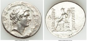 SELEUCID KINGDOM. Demetrius I Soter (162-150 BC). AR tetradrachm (31mm, 15.96 gm, 12h). VF, scratches. Antioch on the Orontes, ca. 162-155/4 BC. Diade...