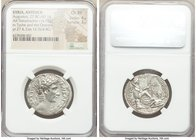 SYRIA. Antioch. Augustus (27 BC-AD 14). AR tetradrachm (28mm, 14.95 gm, 12h). NGC Choice XF 4/5 - 3/5. Dated year 27 of the Actian Era and Cos. XII (5...