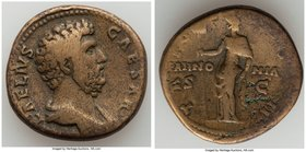 Aelius Caesar (AD 136-138). AE sestertius (32mm, 24.40 gm, 6h). About VF. Rome. L AELIVS-CAESAR, bare headed, draped bust of Aelius right, seen from f...