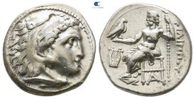 Kings of Macedon. Kolophon. Philip III Arrhidaeus 323-317 BC. In the types of Alexander III. Struck under Menander or Kleitos, circa 323-319 BC. Drach...