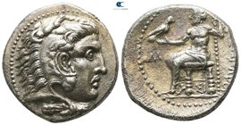 Kings of Macedon. Sidon. Philip III Arrhidaeus 323-317 BC. In the name and types of Alexander III. Struck under Laomedon. Dated RY 12 of Abdalonymos (...