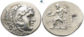 Pamphylia. Perge  221-188 BC. In the name and types of Alexander III of Macedon. Dated CY 21=201-200 BC. Tetradrachm AR