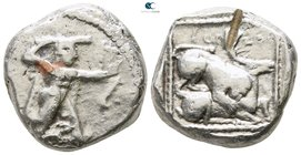Cyprus. Kition  . Azbaal circa 449-425 BC. Stater AR