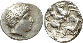 KINGS OF PAEONIA. Patraos (Circa 335-315 BC). Tetradrachm. Astibos or Damastion mint.