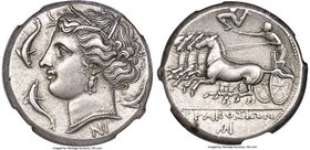 SICILY. Syracuse. Agathocles (317-289 BC). AR tetradrachm (25mm, 17.08 gm, 11h). NGC Choice XF S 5/5 - 5/5, Fine Style. Pre-royal coinage, ca. 310-305...