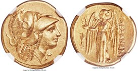 MACEDONIAN KINGDOM. Alexander III the Great (336-323 BC). AV stater (17mm, 8.56 gm, 9h). NGC Choice XF 5/5 - 5/5. Lifetime or early posthumous issue o...