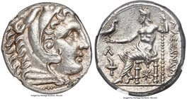 MACEDONIAN KINGDOM. Alexander III the Great (336-323 BC). AR tetradrachm (24mm, 17.20 gm, 7h). NGC MS S 5/5 - 5/5. Posthumous issue of Amphipolis, und...