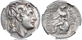 THRACIAN KINGDOM. Lysimachus (305-281 BC). AR tetradrachm (29mm, 17.02 gm, 7h). NGC AU 5/5 - 4/5. Amphipolis, 288-282 BC. Diademed head of deified Ale...