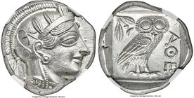 ATTICA. Athens. Ca. 440-404 BC. AR tetradrachm (24mm, 17.20 gm, 6h). NGC Choice MS 5/5 - 5/5. Mid-mass coinage issue. Head of Athena right, wearing cr...