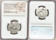 MACEDONIAN KINGDOM. Alexander III the Great (336-323 BC). AR tetradrachm (25mm, 17.04 gm, 7h). NGC MS 5/5 - 3/5. Posthumous issue of Ake or Tyre, date...