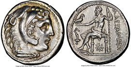 MACEDONIAN KINGDOM. Alexander III the Great (336-323 BC). AR tetradrachm (26mm, 17.10 gm, 12h). NGC Choice AU S 5/5 - 5/5. Posthumous issue of Amphipo...