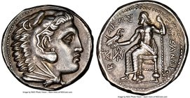 MACEDONIAN KINGDOM. Alexander III the Great (336-323 BC). AR tetradrachm (26mm, 17.23 gm, 2h). NGC AU 5/5 - 3/5, brushed. Late lifetime or early posth...