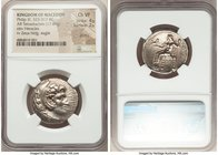 MACEDONIAN KINGDOM. Philip III Arrhidaeus (323-317 BC). AR tetradrachm (26mm, 17.09 gm, 2h). NGC Choice VF 4/5 - 2/5, graffiti. Susa, ca. 323-318/7 BC...