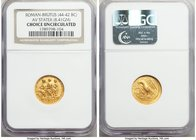 THRACIAN DYNASTS. Coson (ca. after 54 BC). AV stater (18mm, 8.41 gm, 12h). NGC Choice Uncirculated. Ca. 44-42 BC. Roman consul (L. Junius Brutus) walk...