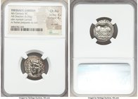 THESSALY. Larissa. Ca. 4th century BC. AR drachm (18mm, 6.06 gm, 6h). NGC Choice AU 4/5 - 4/5, die shift. Head of nymph Larissa facing slightly left, ...