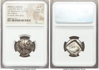 ATTICA. Athens. Ca. 510/500-480 BC. AR tetradrachm (21mm, 16.97 gm, 2h). NGC Choice Fine 3/5 - 3/5. Head of Athena right, wearing crested Attic helmet...