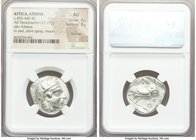 ATTICA. Athens. Ca. 455-440 BC. AR tetradrachm (25mm, 17.17 gm, 2h). NGC AU 4/5 - 3/5, brushed. Early transitional issue. Head of Athena right, wearin...