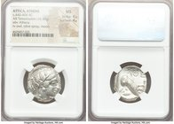 ATTICA. Athens. Ca. 440-404 BC. AR tetradrachm (23mm, 16.53 gm, 9h). NGC MS 4/5 - 4/5. Mid-mass coinage issue. Head of Athena right, wearing crested A...