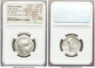 ATTICA. Athens. Ca. 440-404 BC. AR tetradrachm (25mm, 17.21 gm, 11h). NGC AU 5/5 - 4/5. Mid-mass coinage issue. Head of Athena right, wearing crested ...