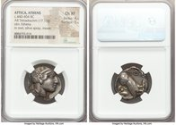 ATTICA. Athens. Ca. 440-404 BC. AR tetradrachm (24mm, 17.16 gm, 9h). NGC Choice XF 4/5 - 5/5. Mid-mass coinage issue. Head of Athena right, wearing cr...