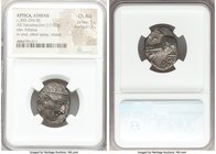 ATTICA. Athens. Ca. 393-294 BC. AR tetradrachm (20mm, 17.00 gm, 8h). NGC Choice AU 5/5 - 3/5. Head of Athena right, wearing Attic helmet ornamented wi...