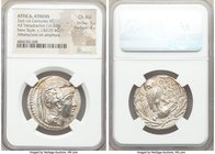 ATTICA. Athens. Ca. 2nd-1st centuries BC. AR tetradrachm (31mm, 16.84 gm, 11h). NGC Choice AU 5/5 - 4/5. New Style coinage, ca. 130/29 BC. Theophra, S...