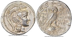 ATTICA. Athens. Ca. 2nd-1st centuries BC. AR tetradrachm (31mm, 16.91 gm, 10h). NGC Choice AU 5/5 - 4/5, flan flaw. New style coinage, ca. 134/3 BC, T...