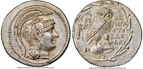 ATTICA. Athens. Ca. 2nd-1st centuries BC. AR tetradrachm (32mm, 16.88 gm, 11h). NGC Choice AU 4/5 - 4/5. New Style issue, 136/5 BC. Hera(cles), Aristo...