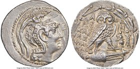 ATTICA. Athens. Ca. 2nd-1st centuries BC. AR tetradrachm (29mm, 16.34 gm, 12h). NGC AU 3/5 - 3/5, die shift. New Style coinage, ca. 89/8 BC, Cointus, ...