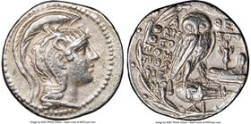 ATTICA. Athens. Ca. 2nd-1st centuries BC. AR tetradrachm (28mm, 16.76 gm, 12h). NGC XF 4/5 - 4/5. New style coinage, 117/6 BC. Themisto-, Theopompus, ...