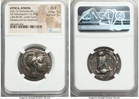 ATTICA. Athens. Ca. 2nd-1st centuries BC. AR tetradrachm (28mm, 16.37 gm, 12h). NGC Choice Fine 5/5 - 5/5. New Style coinage, Roman occupation under S...