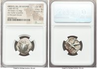 SARONIC ISLANDS. Aegina. Ca. 480-457 BC. AR stater (21mm, 12.44 gm). NGC Choice VF 4/5 - 4/5. Sea turtle, viewed from above, head turned sideways, wit...