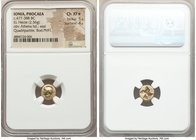 IONIA. Phocaea. Ca. 477-388 BC. EL sixth-stater or hecte (10mm, 2.56 gm). NGC Choice XF S 5/5 - 4/5. Head of Athena left, wearing crested Attic helmet...