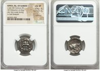 IONIAN ISLANDS. Samos. Ca. late 4th century BC. AR didrachm (18mm, 6.32 gm, 11h). NGC Choice VF 4/5 - 3/5, scratches. Rhodian standard. Leontiscus, ma...