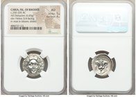 CARIAN ISLANDS. Rhodes. Ca. 250-200 BC. AR didrachm (20mm, 6.69 gm, 12h). NGC AU 5/5 - 4/5. Anazandrus, magistrate, ca. 225-205 BC. Radiate head of He...
