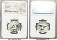 CARIAN ISLANDS. Rhodes. Ca. 230-205 BC. AR tetradrachm (27mm, 13.42 gm, 1h). NGC Choice XF 5/5 - 3/5. Aristocritus, magistrate. Radiate head of Helios...